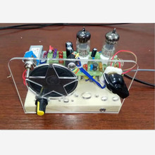 1PCS/LOT, 6J1+6J1 tube super regenerative FM radio kit  two lam  FM radio Best