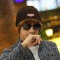Бренд Шапочки Трикотажные мужские Зимние Hat Caps Skullies Bonnet Зима шляпы Для Мужчин Женщины Шапочка Мех Теплый Багги Шерсть Вязаный шляпа