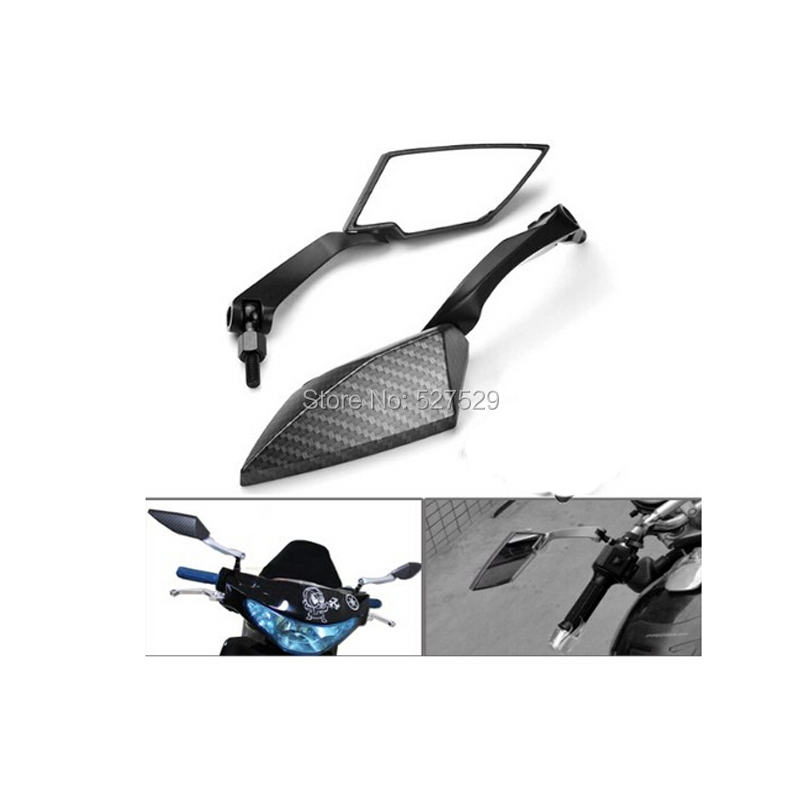 2PCS Carbon Custom Side Mirrors For Yamaha V Star 650 950 1100 1300 for Suzuki Gsxr