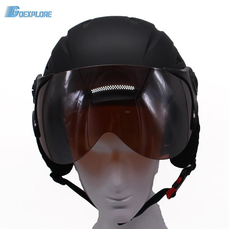 Snow helmet with visor Ultralight professional ABS Snowboard Skating Skateboard helmet for adult ce certificate ski helmet mens giro bevel snowboard helmet matte titanium mens