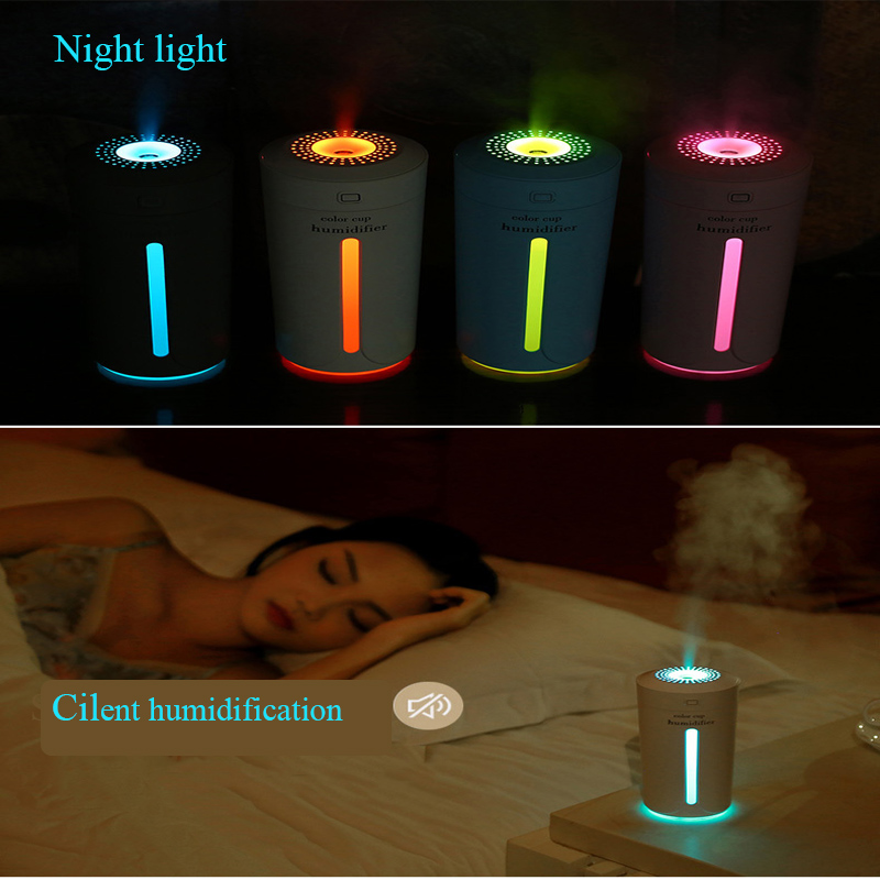 Ultrasonic USB Air Humidifier Essential Oil Diffuser With 7 Color Aromatherapy Humidifier Car Aroma Diffuser