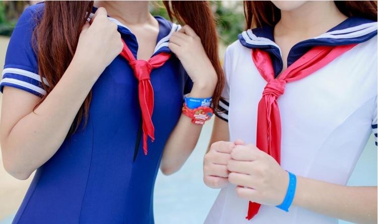 Японская школьная форма стиль sukumizu купальник милый моряк цельный Лолита купальник девушка косплей сексуальный купальный костюм