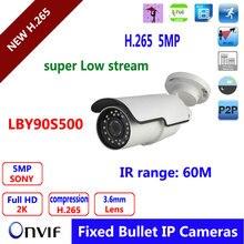 5mp IP POE digital camera 60M IR Night time Imaginative and prescient Actual Time Safety Surveillance Bullet Waterproof IP66 Outside  community ip digital camera