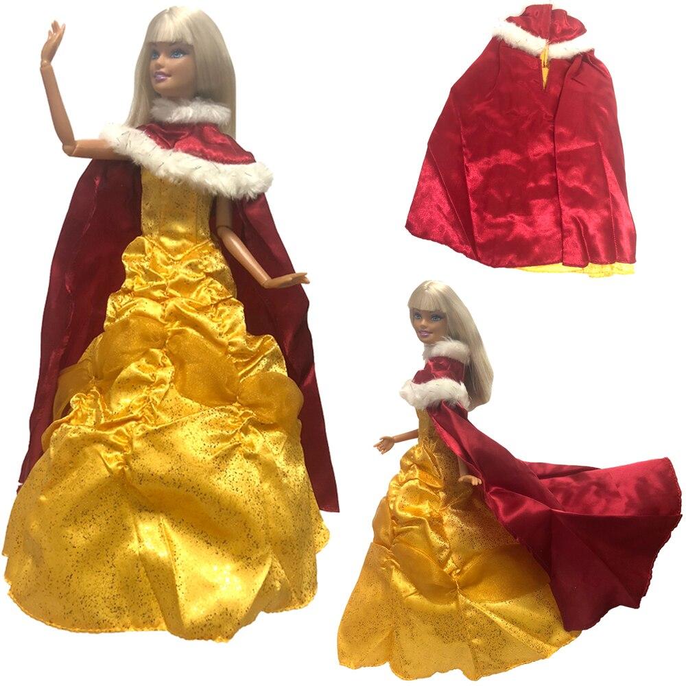 Acquista A Buon Mercato Nk Principessa Campana Bambola Vestito Fairy Tales Di Bellezza E La Bestia Bambola Abito Di Cosplay Mantello Vestito Per Barbie Doll Accessori Giocattoli