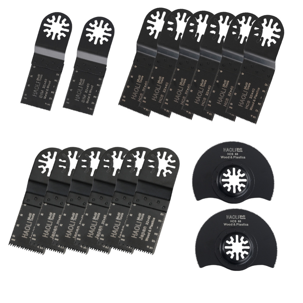 цена на 16 pcs/set Oscillating Tool Saw Blades Accessories fit for Multimaster power tools as Fein, Dremel etc, FREE SHIPPING