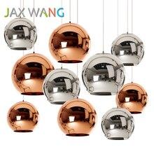 JAXLONG LED Glass Ball Pendant Lights Kitchen Dining & Bar E27 Bulb Lamp Modern Christmas Lighting Luminaire lustre