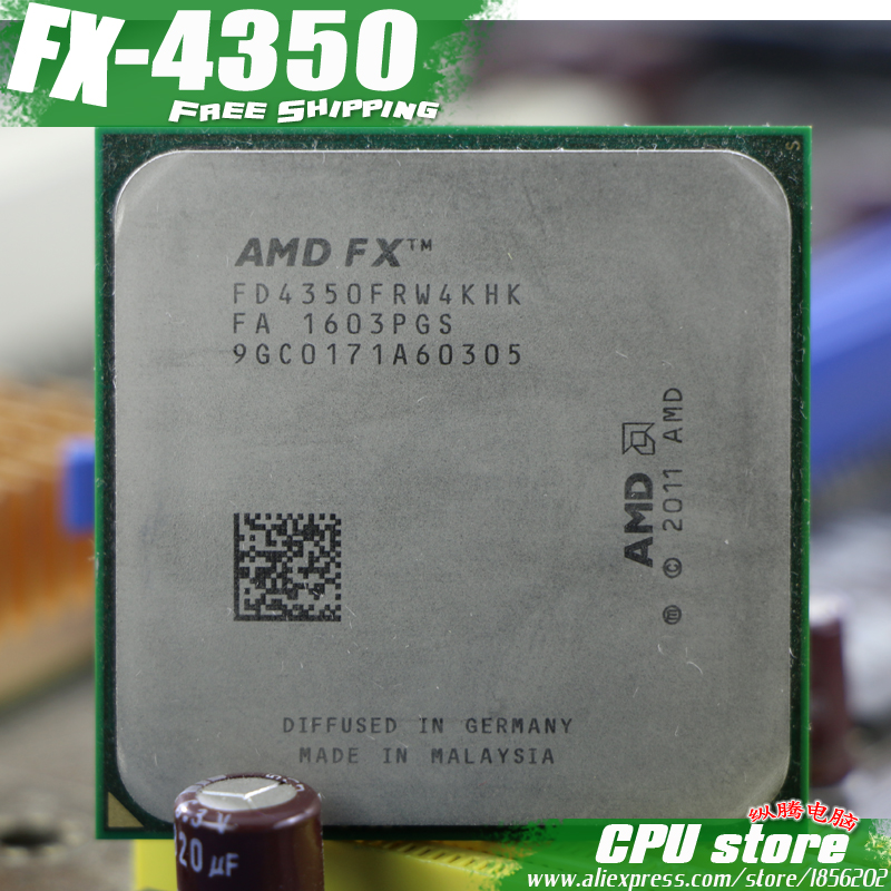 AMD Cpu Processor FX Quad-Core 4350 4MB AM3 Working Serial-Pieces Sell 4MB/125W 100-%