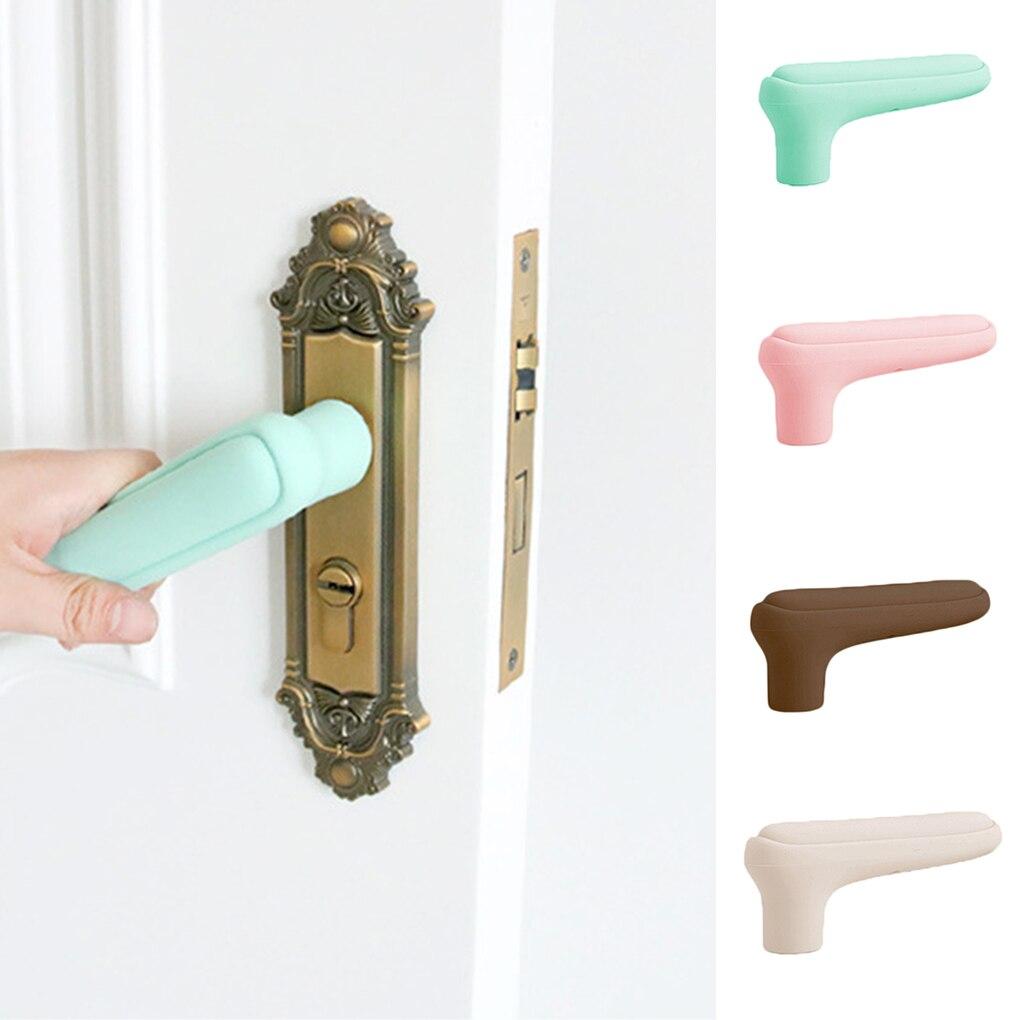 Novo silicone maçaneta da porta da luva do quarto lidar com bebê criança proteção contra acidentes suíte porta puxar lidar com luvas protetor