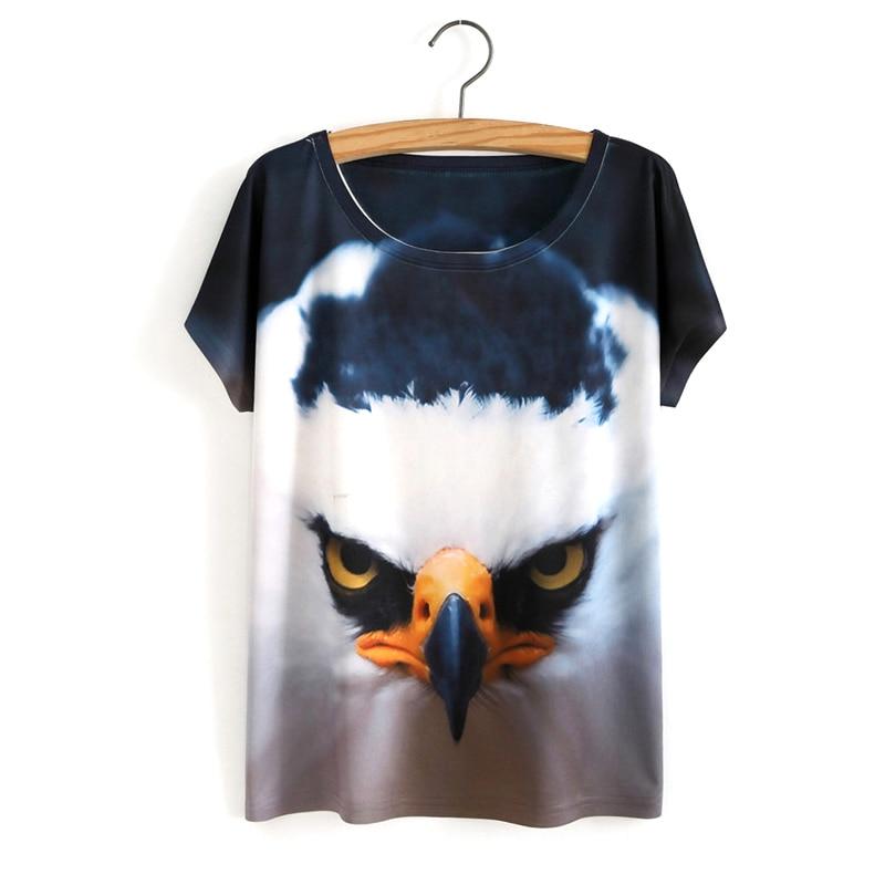 HTB1ORroOVXXXXbnXXXXq6xXFXXXI - White Tiger 3D Print T-Shirt Women Summer Clothes