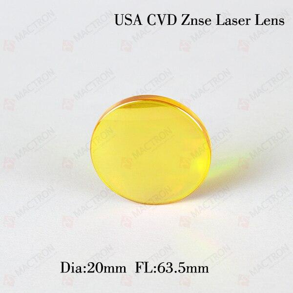 Dia.20mm FL 63.5mm USA Znse Focus Lens/Co2 Laser Lens/Laser Focus Lens high quality znse focus lens co2 laser engraving cutter dia 19mm fl mm 1 5 free shipping