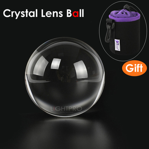 Image 2 - 50/60/70/80/90/100/110mm Photography Crystal Lens Ball Asian Quartz Clear Magic Glass Ball w/ Portable Bag for Photo Shooting