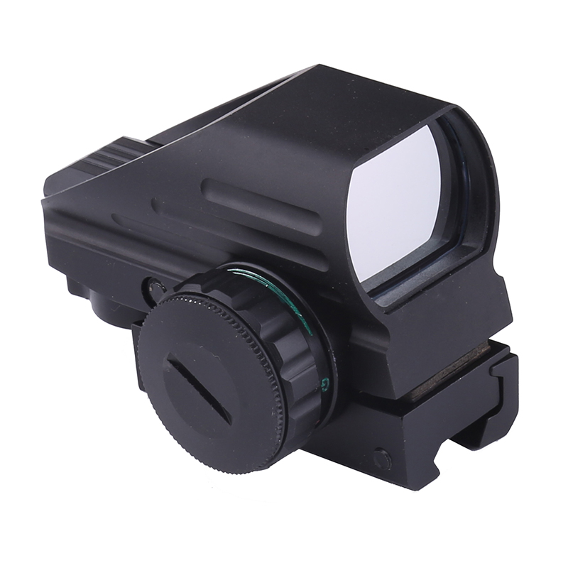 Neue 4 Absehen Tactical Reflex Rot/Grün Laser Holographische Projiziert Dot Anblick-bereich Luftgewehr Gewehr Anblick Jagd Schiene Montieren 20mm