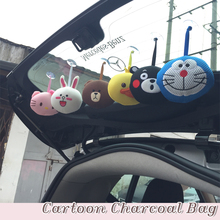 Car Cartoon Air Freshener Bamboo Charcoal Bag Deodorant Purifying for smart 451 fortwo 453 forfour