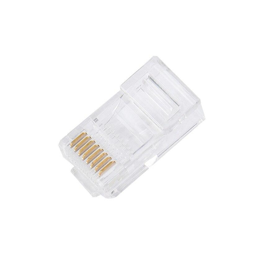 Factory price 20PCS Cat5 Cat5e Network Connector rj45 Metal Cable Modular Plug Terminals TerminalsSept30