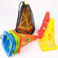 Equipamentos de treinamento de futebol de 5 pces roadblocks cones de obstáculo para patinação de rolos
