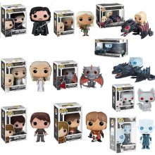 Funko POP Anime Song Of Ice And Fire Game Thrones Jon Snow Collectible Model Boy Toys Movie Action Figure for