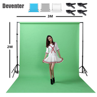 Photography background bracket 2x3M + fabric background cloth 2x3M send clip and handbag+4x Vigorously clip