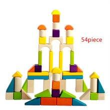 Купить с кэшбэком New Wooden Baby Toys Wooden Colorful Blocks Baby Educational Toys