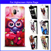 Factory price Fashion Patterns Cartoon Luxury Flip up and down PU Leather Case for Highscreen Alpha Rage,Free gift