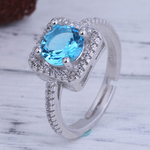 Extravagant Square Rings 925 Sterling Silver Weddings Party Fine Women Fashion Jewelry Ring