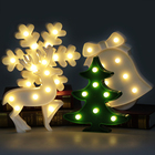 LED Lamp 3D Night Lights Marquee Treelet Snowflake Bell Davids Deer LED Letter Night Lamp Baby Bedroom Decoration Kids Gift