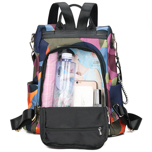 Image 2 - New Backpack Women Oxford Multifuction Bagpack Casual Anti Theft Backpack for Teenager Girls Schoolbag 2019 Sac A Dos mochila