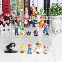 18pcs Set 3 7cmSuper Mario Bros PVC Action Figures Toys Yoshi Dinosaur Dolls