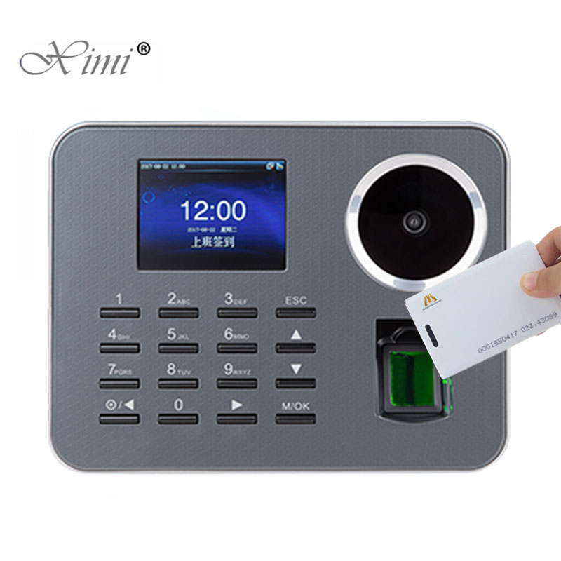 New!!!Palm Time Attendance ZK IClock360-P Biometric Time Recorder Fingerprint Employee Attendance With 125KHZ RFID Card Reader