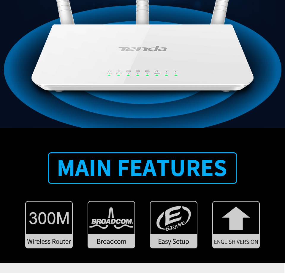 Tenda F3 N300 Mbps Wireless Router Routers Networking 01 02