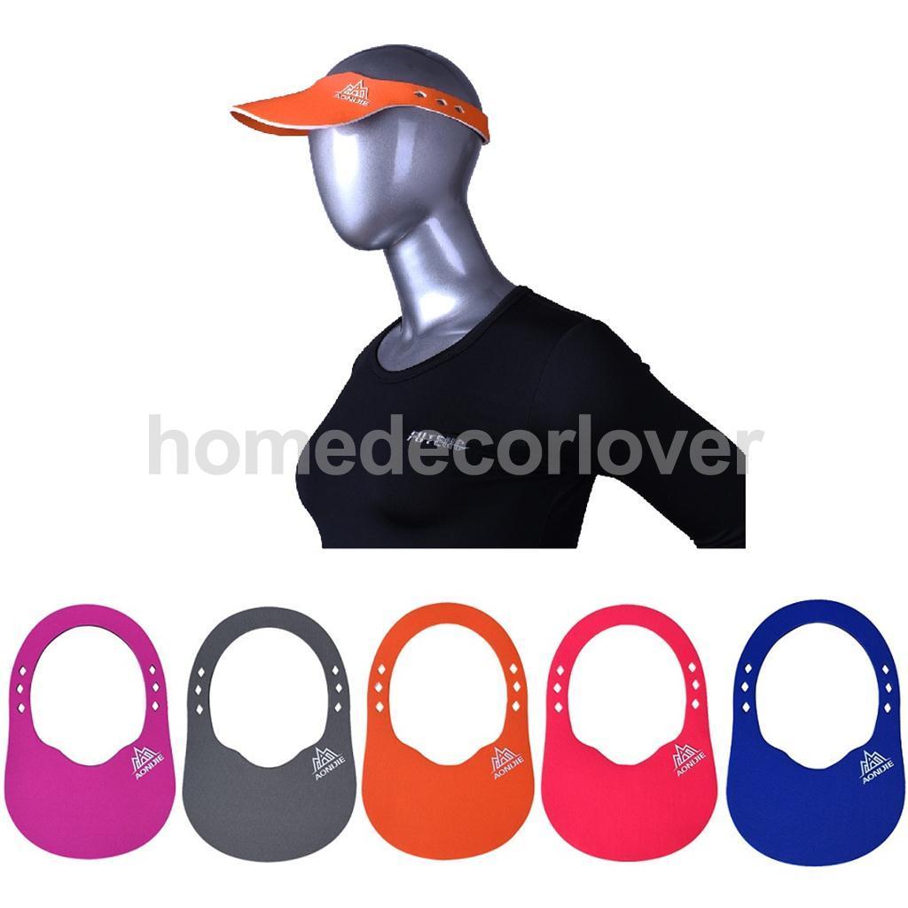 Unisex Visor Sun Plain Hat Sports Cap Golf Tennis Leisure Air Top Cap - Blue