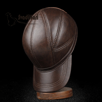 Svadilfari New 2018 High Quality Genuine Leather Baseball Caps Solid Casual Autumn Winter Head Layer Real Cowhide Hat Men Women