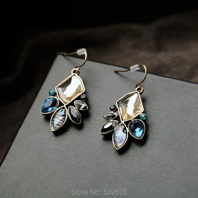 Drop Peacock Piercing Earrings