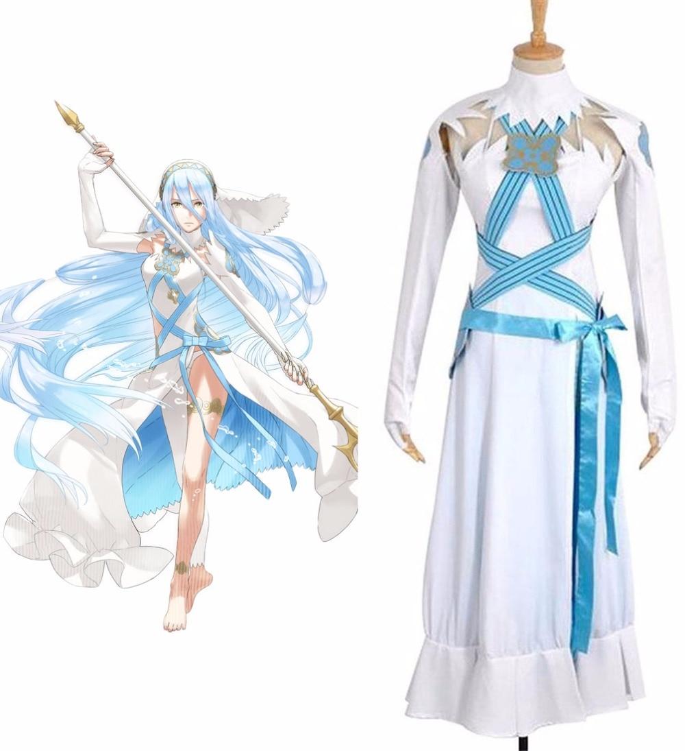 Огненная эмблема Fates Azura яркое платье Косплей Костюм на заказ
