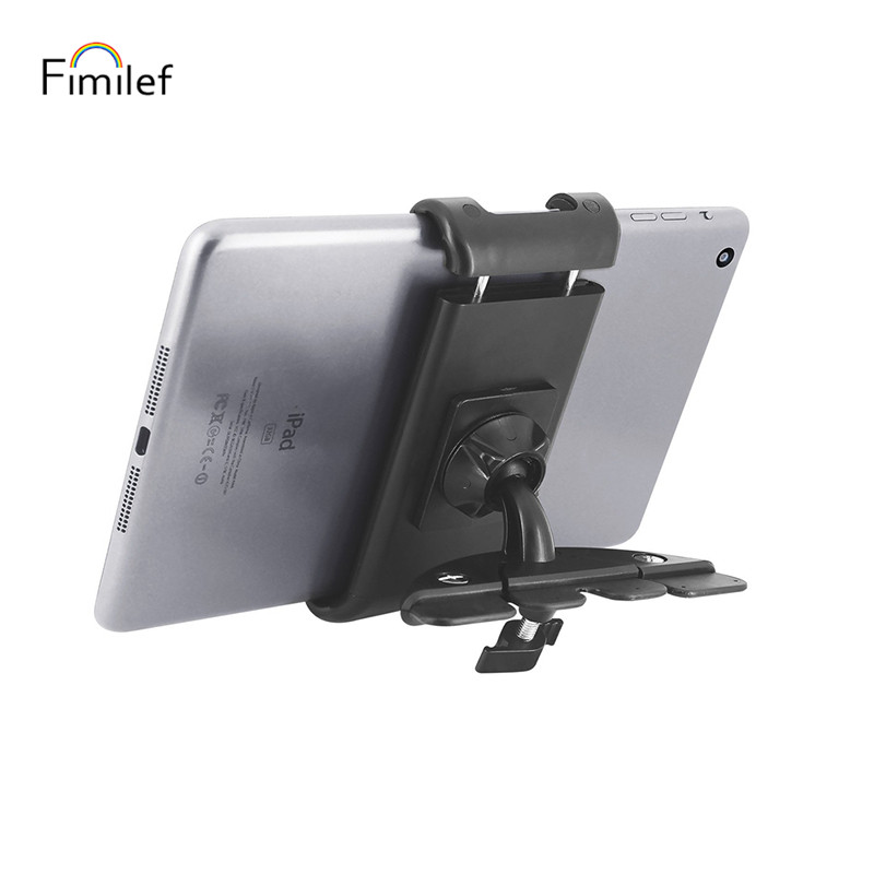 Fimilef Car Mount Tablet Holder 360 Degree Rotation Car Phone Holder Car CD Slot Holder Support Bracket For Smartphone GPS