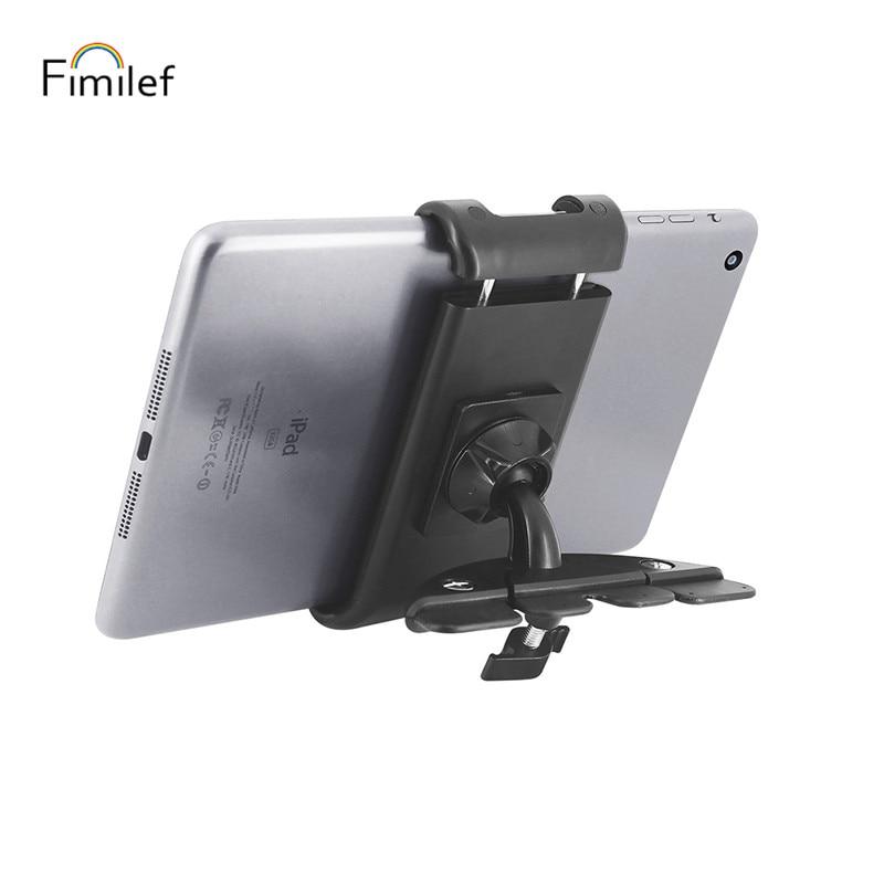 Fimilef Car Mount Tablet Holder 360 Degree Rotation Car Phone Holder Car CD Slot Holder Support Bracket For Smartphone GPS