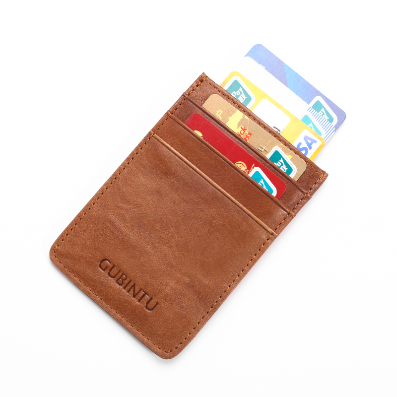 Fashion business card holders for men genuine leather men wallets fashion business card holders for men genuine leather men wallets rfid protected simple mini wallet in wallets from luggage bags on aliexpress colourmoves Images