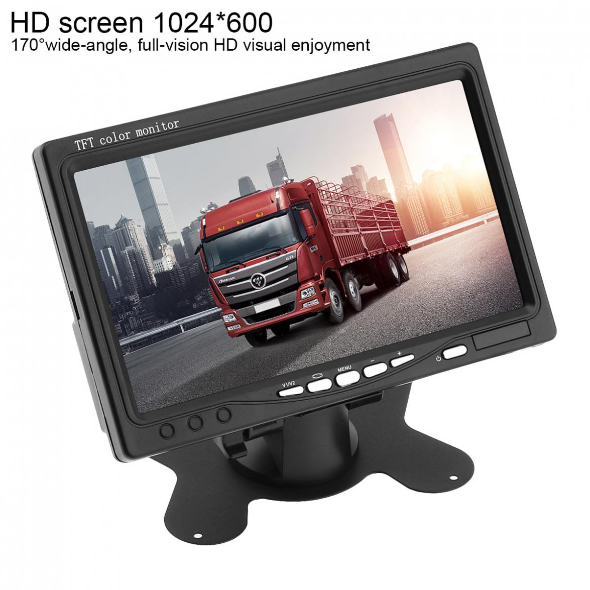 7 Inch 1024x600 12V HD TFT LCD Car VGA Home Monitor Bright Color VGA Interface AV Auto Video Player PAL / NTSC / SCAME-in Car Monitors from Automobiles & Motorcycles    3