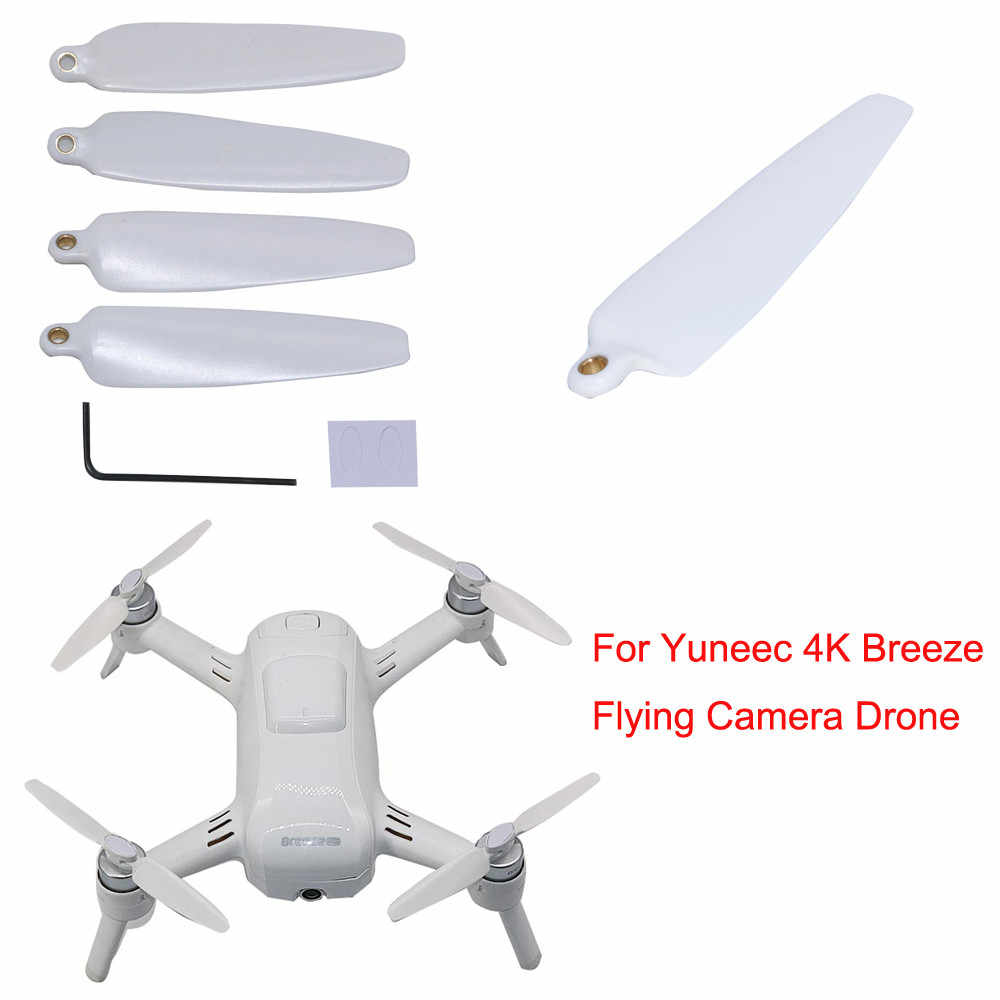 4X เปลี่ยน Props ใบพัดใบพัดสำหรับ Yuneec 4K Breeze Flying Drone กล้อง 6J7 Drop Shipping