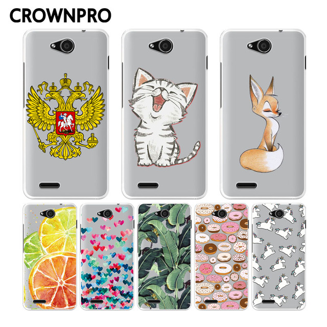 CROWNPRO ZTE Blade GF3 T320 Soft Silicone TPU Case Cover 4.5 inch Colored Painting Case Back For ZTE GF3 Phone Case