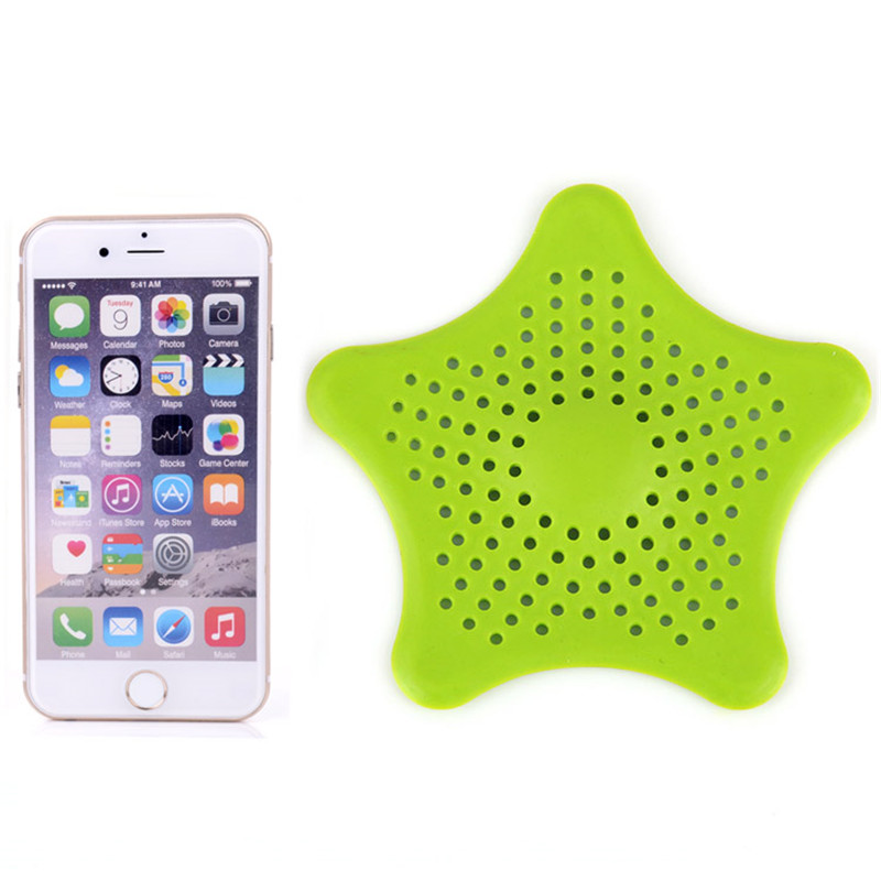 1Pc Star Sewer Outfall Strainer Bathroom Sink Filter Anti blocking Floor Drain Hair Stopper Catcher Kitchen Bathroom Accessories in Hair Stoppers Catchers from Home Garden
