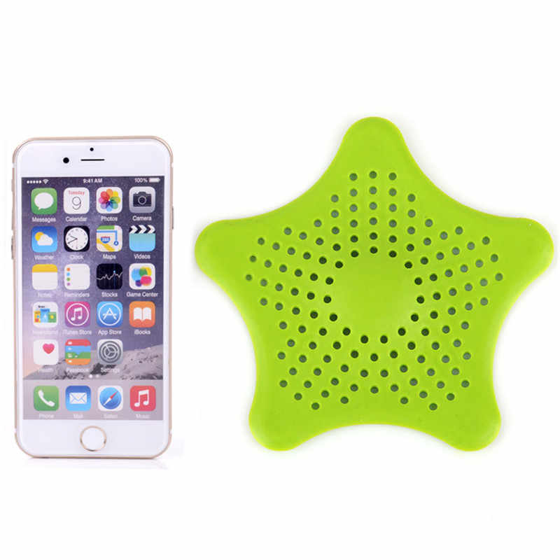 1Pc Star Sewer Outfall Strainer Bathroom Sink Filter Anti-blocking Floor Drain Hair Stopper Catcher Kitchen Bathroom Accessories