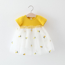 Baby Dress With Pineapples Print