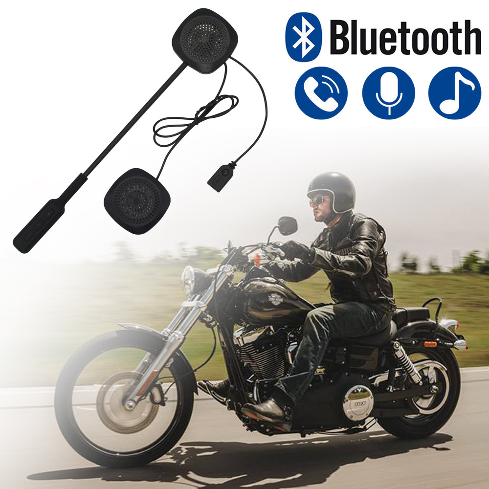 GüNstiger Verkauf Bluetooth Motorrad Helm Headset Motorrad Headset Kopfhörer Intercom Für Musik Gps Auto Styling # M Auswahlmaterialien