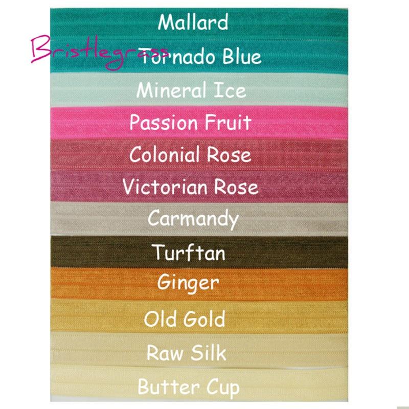 "1 yard Neon pink w// metallic gold HELLO print 5//8/"" fold over elastic FOE"
