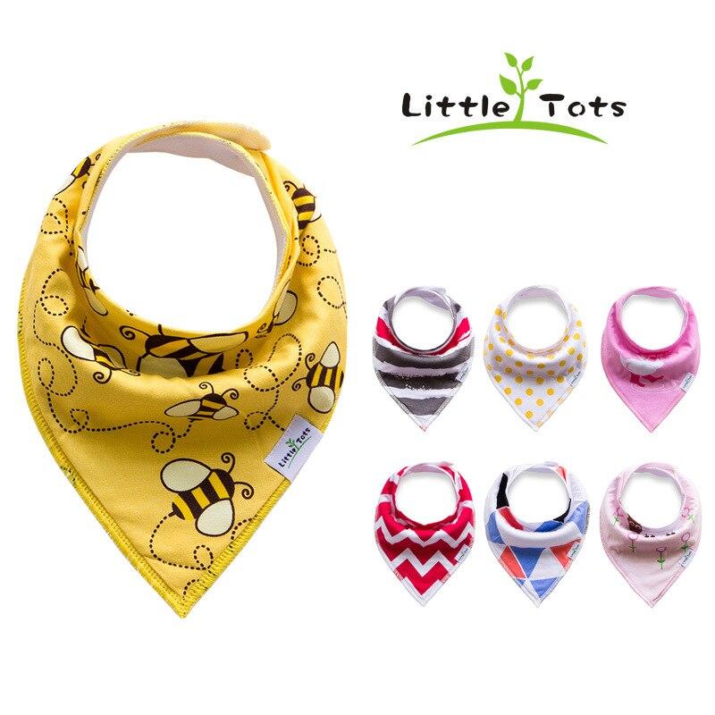 INS Fashion Cotton Baby Bib Infant Bibs Slabber Pack of 4PCS