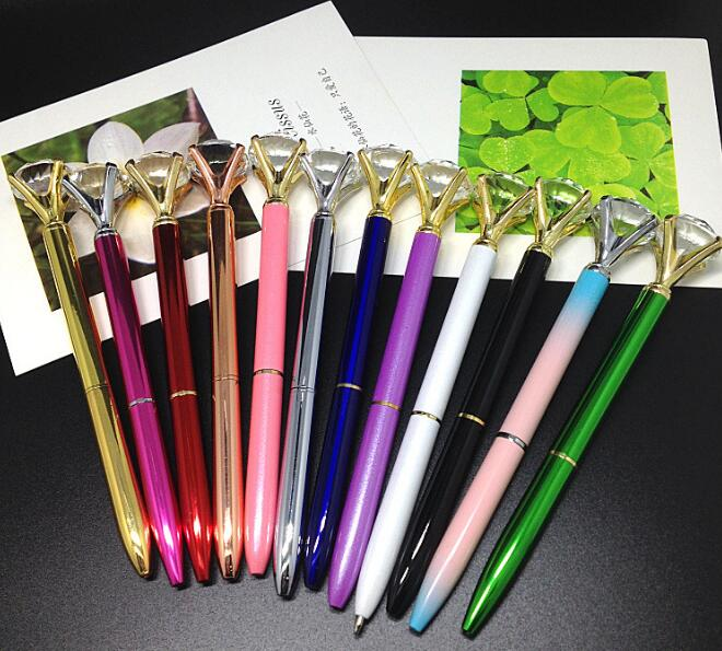 Image 5 - 20PCS/lot 2017 new arrival diamond pen queen gem crystal gift pen free shippingBallpoint Pens   -