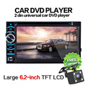 G1 High Quality 6.5 Double 2DIN Touch Car Stereo CD DVD Player Bluetooth USB SD AM FM TV Radio+Camera 362 Car Styling Accessorie