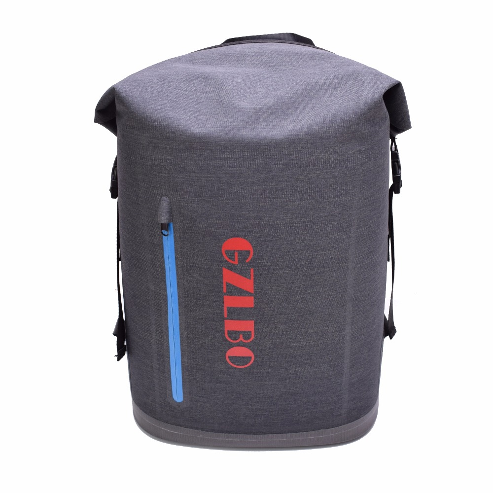 GZLBO 40Cans cooler bag Oxford TPU Dark Gray waterproof insulated food beer picnic cooler bag backpack with zipper pocket denim lunch bag kid bento box insulated pack picnic drink food thermal ice cooler leisure accessories supplies product