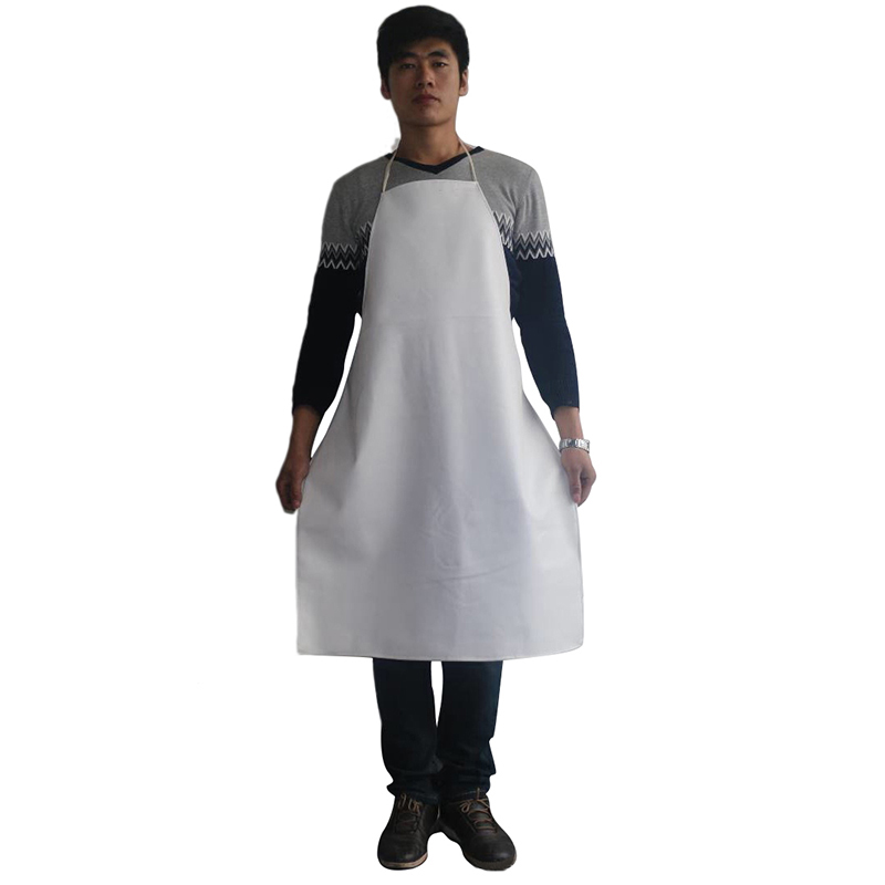 Safety Clothing Security & Protection Official Website Waterproof Aprons Oil-proof Pu Leather Black White Bib Apron Labor Working Protective Clothing For Canteens Kitchen Restaurants To Have Both The Quality Of Tenacity And Hardness
