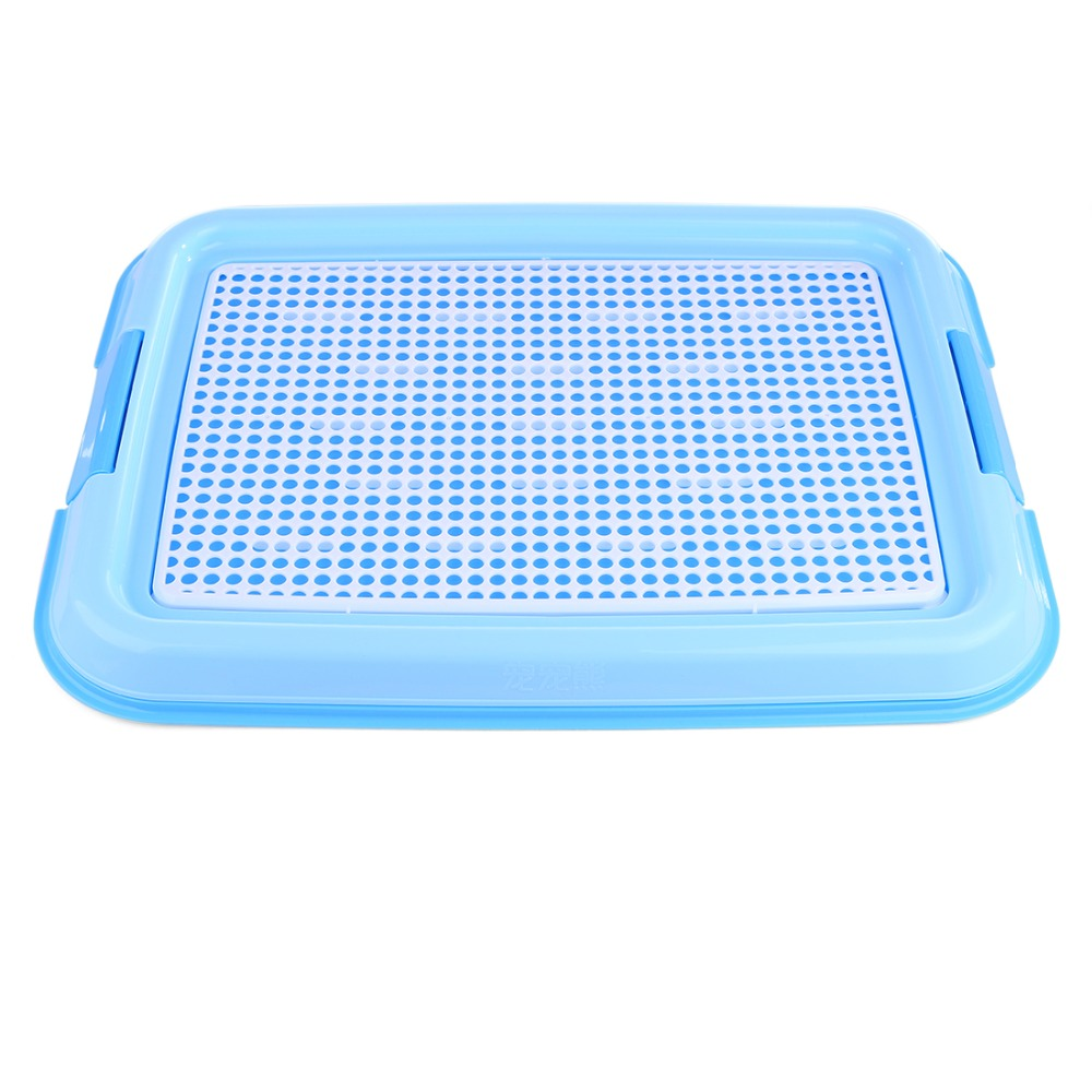 Petforu Indoor Pet Dog Toilet Training Cleaning Pad Plastic Pet Toilet Tray Mat Pet Supplies - Blue plastic